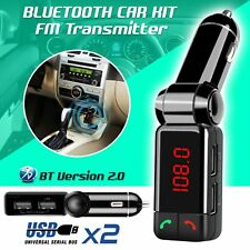 Universal Car Wireless Bluetooth FM Transmitter Dual USB Charger Music Player US