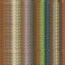 NORO ::Silk Garden #417:: silk mohair wool yarn Rust-Browns-Lime-Lilac-Ecru-Teal