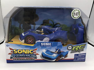 NIB SONIC Hedgehog Transformed Sega All-Star Racing Remote Control Racing Car