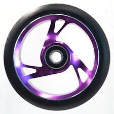 Scooter Wheel -  Alloy Metal Core - 125mm - ABEC 9 -  Anodised PURPLE