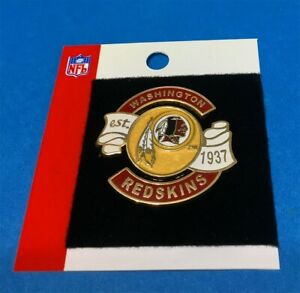 WASHINGTON REDSKINS ORIGINAL NFL TEAM LOGO ESTABLISHED 1937 PIN LAST ONE!