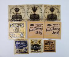 Lot vintage Guitar Mandolin Musical Strings Black Diamond Blue Comet Makes