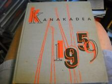 "1959 Alfred University College School Yearbook ""Kanakadea"" New York NY"