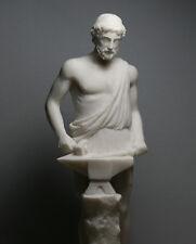 """Hephaestus Vulcan Statue Greek God of Fire & Artisans Alabaster Sculpture 10.24"""""""