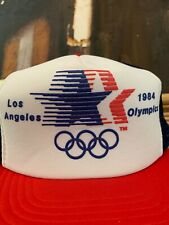 Vintage 1984 USA Olympics Trucker Cap Snapback Hat Los Angeles Summer Olympics