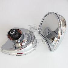 Chrome Inner Fairing Mount Side Rear Mirrors for Harley Street Glide 2014-2016