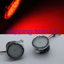 2x Red LED Side Mirror Puddle Lights For Ford Expedition Mondeo Edge Taurus F150