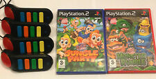 Ps2 Cicalini + 2 Bambini Giochi Bundle-Jungle Party-MONSTER RUMBLE. PLAYSTATION 2