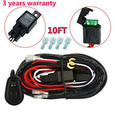 10FT 12V 40A LED Work Fog Light Bar Wiring Harness Kit ON/OFF Switch Relay Cable