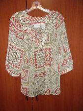 Alfred Dunner Petite Tunic Top Sz 16 P Bust 49 Length 24 inches