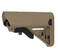 Cheek Rest support  A-Frame 6 Position Collapsible Butt Stock Tan/FDE