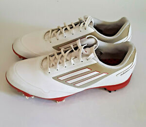 Adidas Adizero Golf Shoes Red/White (size 9 US)