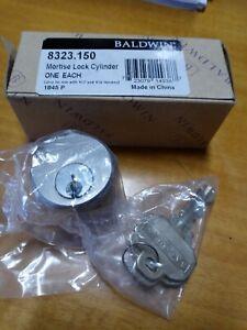 """Baldwin 8323.150 Single Cylinder C Keyway, 1.25"""" Satin Nickel"""