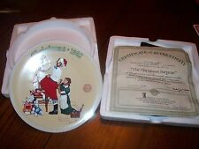 """1992 Bradford Exchange Plate """"The Christmas Surprise!"""" #4037A"""