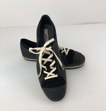 New ccilu Snickers Womens Shoes Size 9 Black Suede Jelly Rubber Lace up NWOB