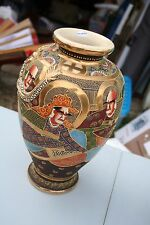 vase satsuma guerrier et dragon