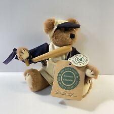 Boyds Bears Plush Stuffed Bear Baseball Wooden Bat Suspenders Hat
