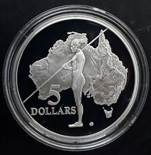 1993 Australia Aborigine 1 oz Silver (.925) Proof $5 coin