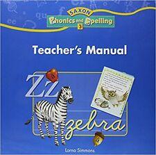 Grade 3 Saxon Phonics and Spelling Teachers Manual Edition 3rd