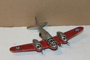 NICE VINTAGE 1940'S HUBLEY DIECAST U.S. ARMY BELL AIRACUDA  AIRPLANE