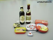 Megahouse dollhouse miniature beer cheese caviar canned food