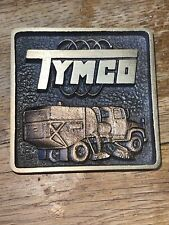 More details for tymco sweeper brass plaque