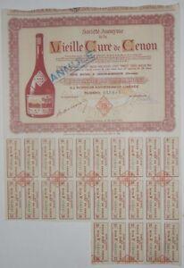 Action - Société Anonyme de la Vieille Cure de Cenon action de 2500 Fr N°019643