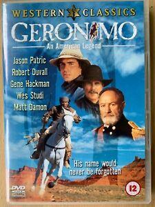 Geronimo An American Legend DVD 1993 Native Indian Western Classic w/ Wes Studi