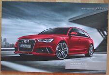 Très rare catalogue The Audi RS 6 Avant - GB/UK - mai 2013 - 2014 MY - 68p