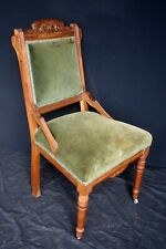 Antique Vintage Old Carved Eastlake SOLID Wood Wooden Side Dining Accent Chair