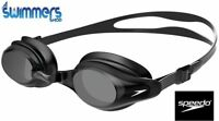 SPEEDO MARINER SUPREME SWIMMING GOGGLES BLACK ANTIFOG NEW