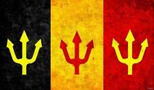 Belgium Flag Red Devils Soccer STICKER bumper decal car helmet laptop