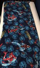 Marvel Spiderman Fleece Zippered Sleepingbag With Elastics For Rolling