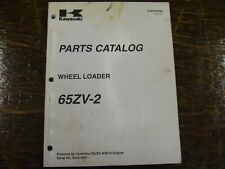 Kawasaki 65ZV-2 Wheel Loader Factory Parts Catalog Manual Book