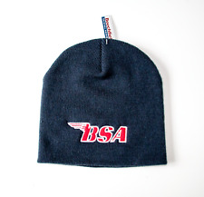 CLASSIC BSA MOTORCYCLES EMBROIDERED BLACK BEANIE HAT