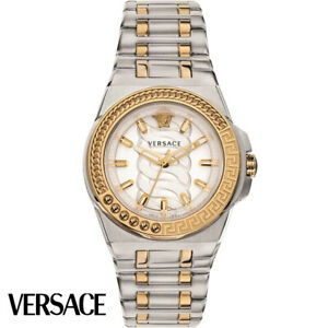Versace VEHD00420 Chain Reaction silver gold Stainless Steel Women's Watch NEW