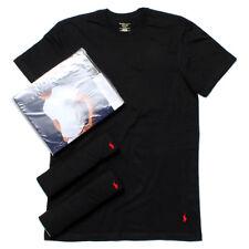 Ralph Lauren Polo Black T-Shirts V Neck Classic Fit - 3 Pack Set