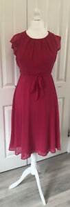 Ladies BNWT And Defects Dorothy Perkins BILLIE & BLOSSOM Pink Dress Size 14