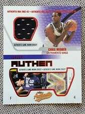 """New listing CHRIS WEBBER 2002-03 Fleer Authentix GU JERSEY """"Ripped"""" INSERT Basketball Card"""