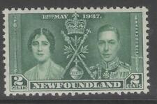 NEWFOUNDLAND SG254 1937 2c CORONATION MNH