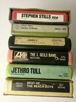 6 TAPE LOT BEACH BOYS,THREE DOG NIGHT,ELTON JOHN,J GEILS BAND 8 TRACK TAPES