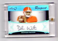 DESHAUN WATSON NFL 2017 LEAF Q RESPECT SIGNATURES #/35 (HOUSTON TEXANS,TIGERS)