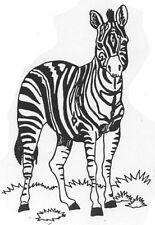 Unmounted Rubber Stamps, Wild Animals, Wildlife Stamps , Animals, Zebra, Zebras