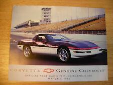 1995 Corvette Pace Car Hero Card 79th Indy 500 LT1 95 Chevrolet Chevy