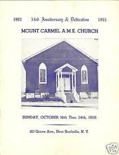 Mount Carmel A. M. E. Church 53rd Anni. New Rochelle NY