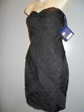 New Jean-Paul Gaultier 4 Target Black Strapless Wiggle Pencil Dress Prom Goth 5