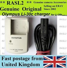 Genuine Olympus Charger Li-30C para Li-30B Batería, MJU U-mini Digital, Micro Mini