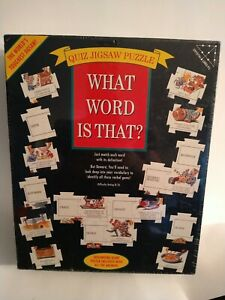 """What Word Is That? Quiz Jigsaw Puzzle 504-Piece 37""""x24""""  #5262 Brand New Sealed"""