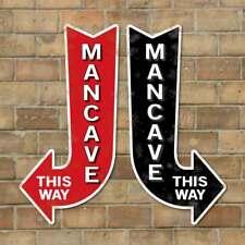 Mancave Arrow Sign, Home Bar Sign, Outdoor Pub Sign, Robust Cool Mancave Sign