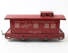 Hafner O Scale Chicago & Northwestern CNW Caboose 614333 Tin Litho 4 Wheel
